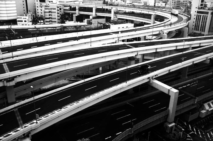 Autoroutes superposées