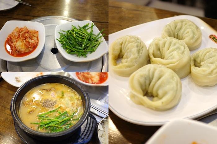 Repas avec différents plats