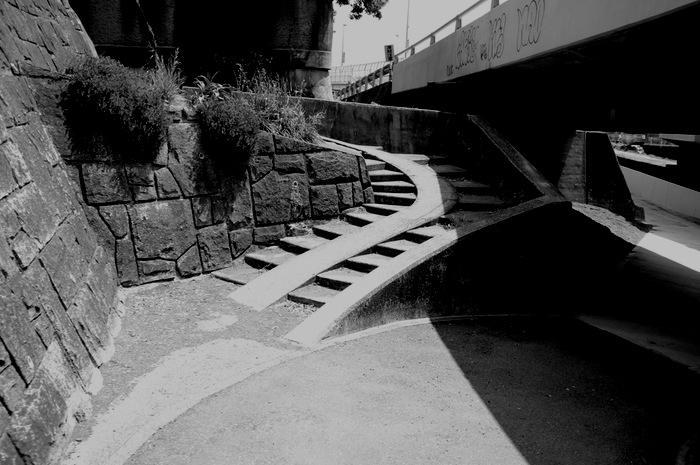 Escalier avec rampe