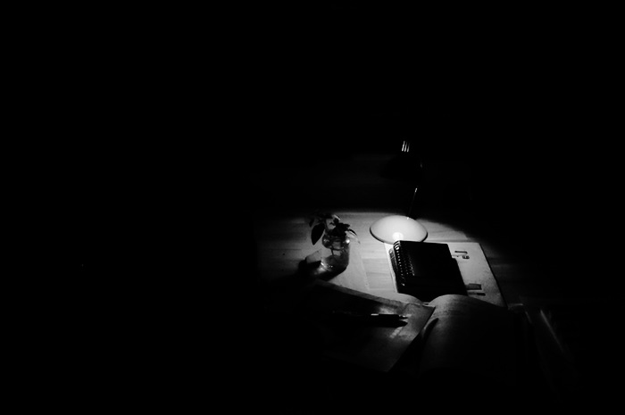 Point de lumière sur un bureau