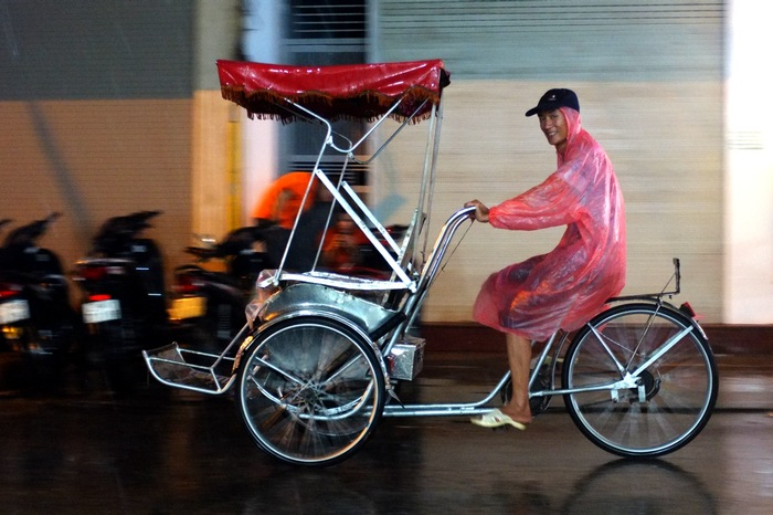 conducteur de rickshaw