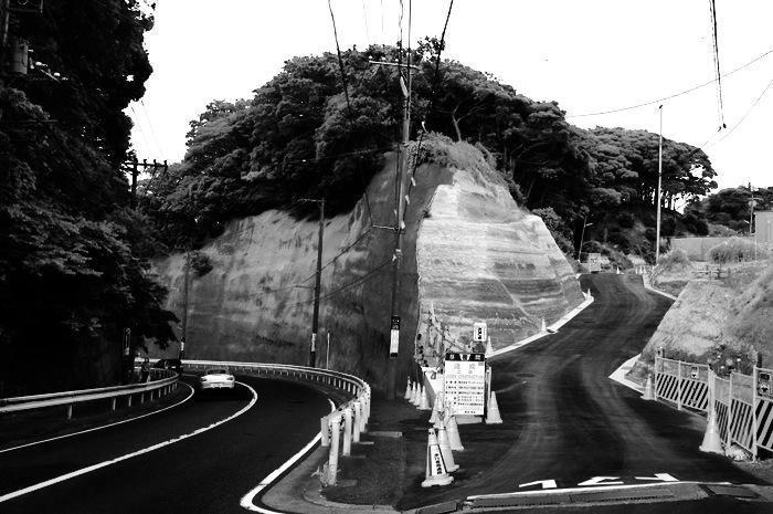 lacets de route et colline