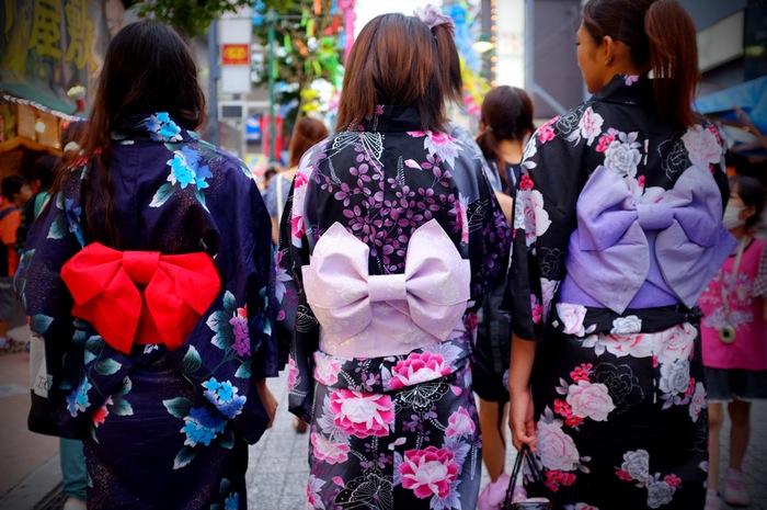 trois obi de yukata