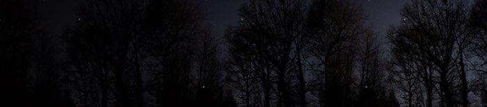 Composition de trois ciels étoilés