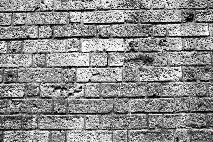 Mur avec défauts