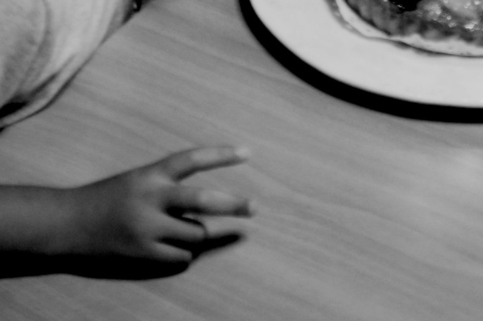 La main d'un enfant