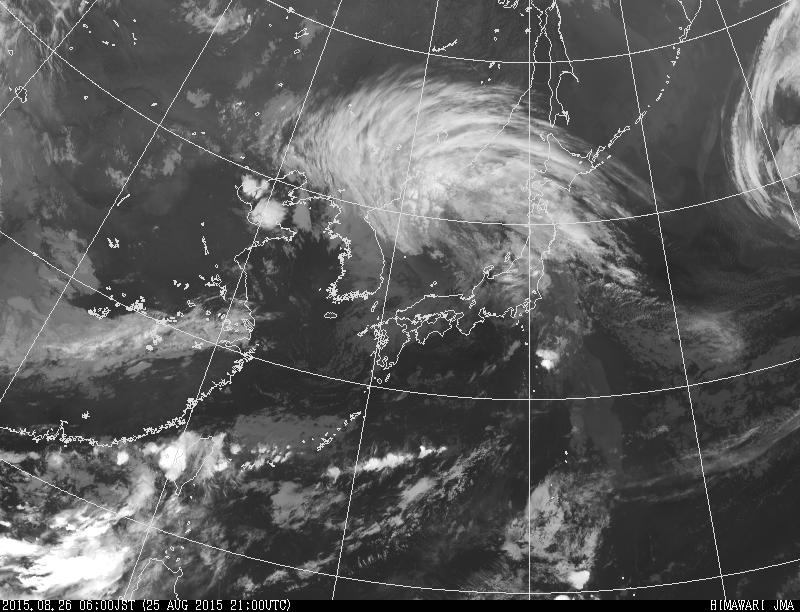 Image satellite du Typhon