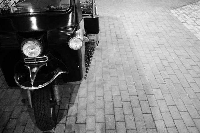 roue et avant de trishaw
