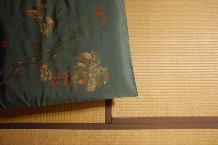 coussin sur tatami