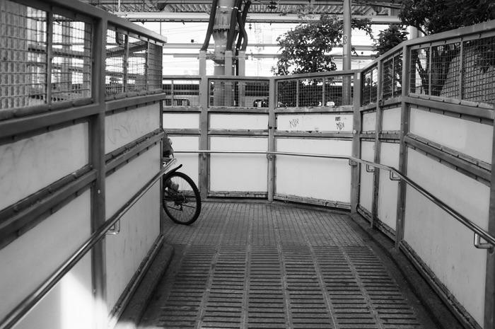 Vélo dans un passage