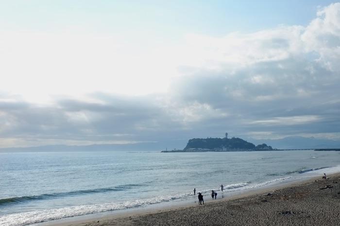 Enoshima et la plage