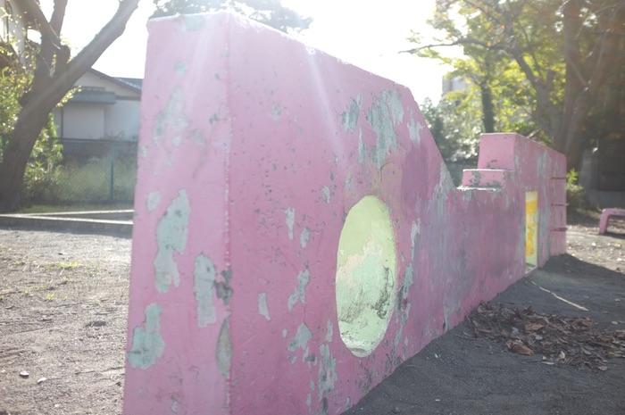 mur de jeu rose