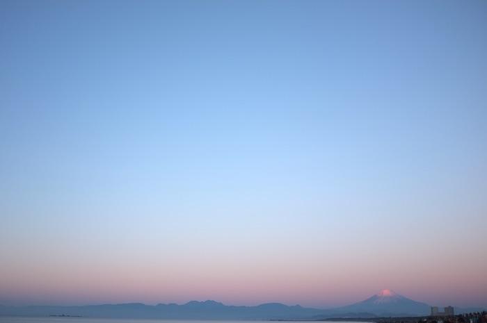 Fuji au lever du soleil
