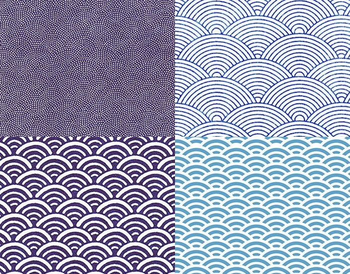 quatre motifs de vagues