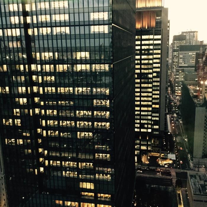 Immeubles d'affaires le soir