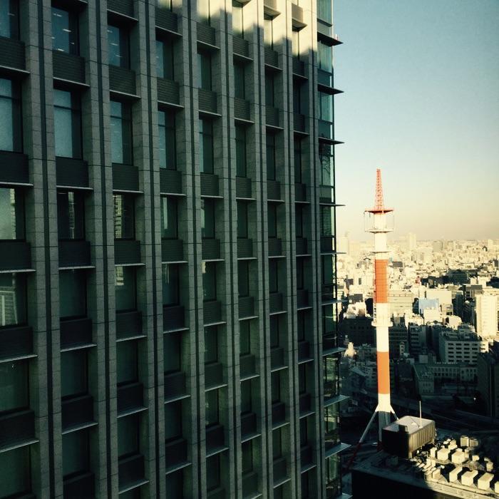 vue de la ville depuis un immeuble