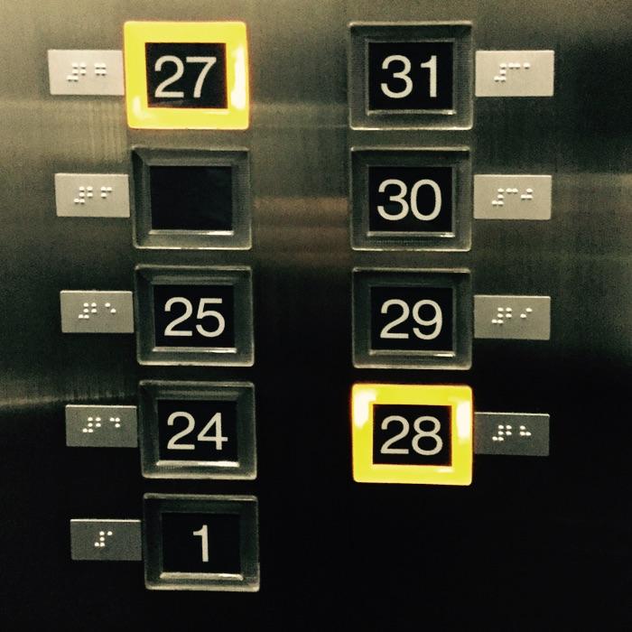 boutons d'ascenseurs