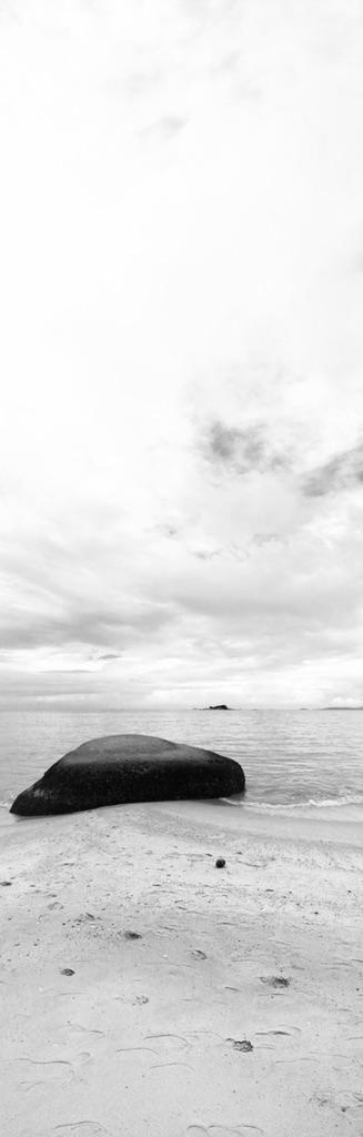 Rocher sur une plage