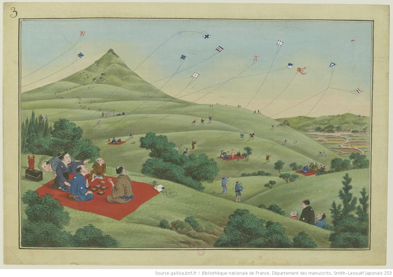 """<a href=""""https://gallica.bnf.fr/ark:/12148/btv1b10022281g/f3.item.zoom"""">Peintures sur soie représentant les métiers et la vie quotidienne des Japonais</a>"""