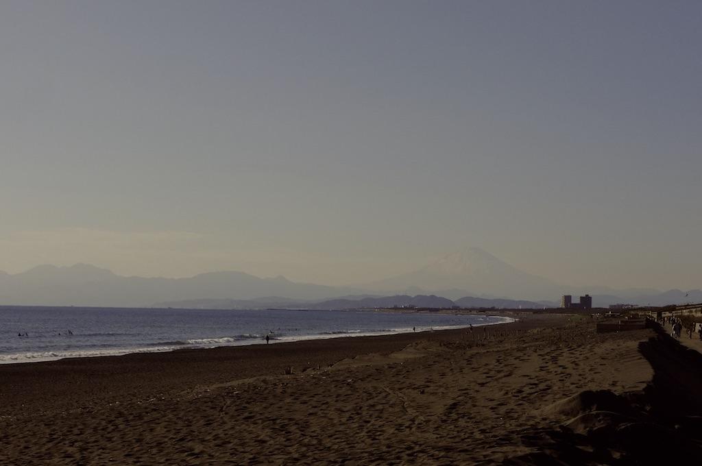 Mont Fuji et la plage à Shonan