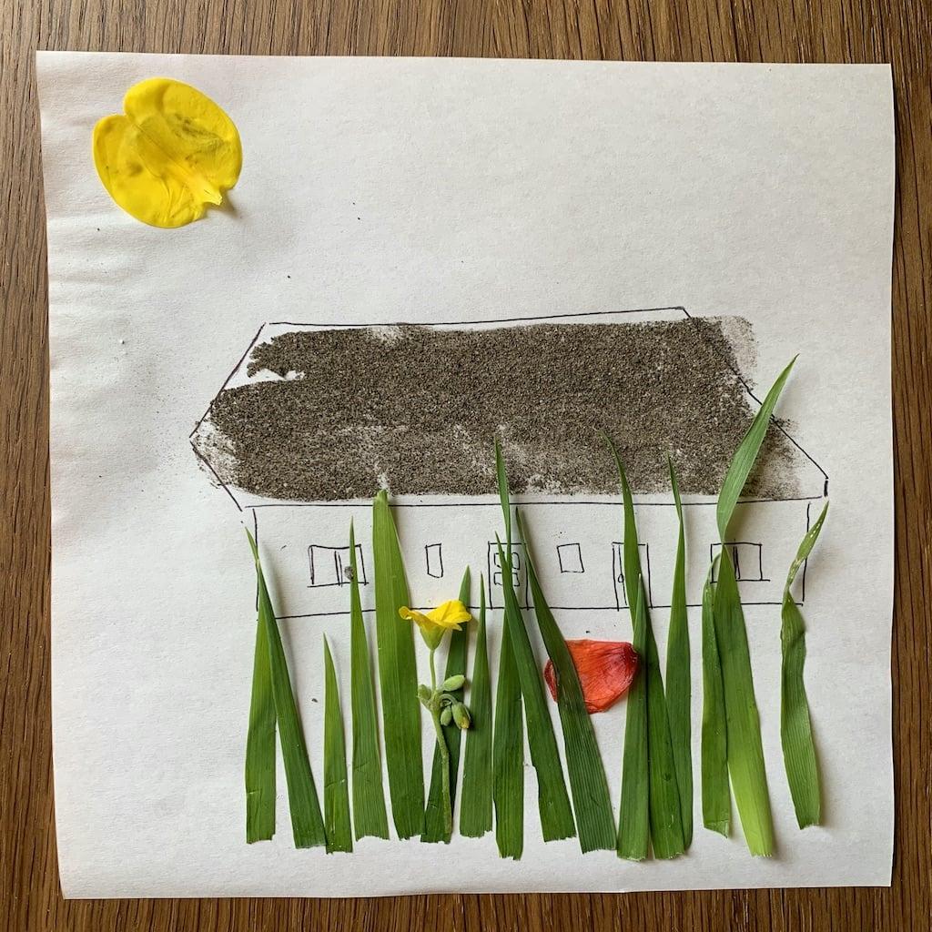 dessin de la grange