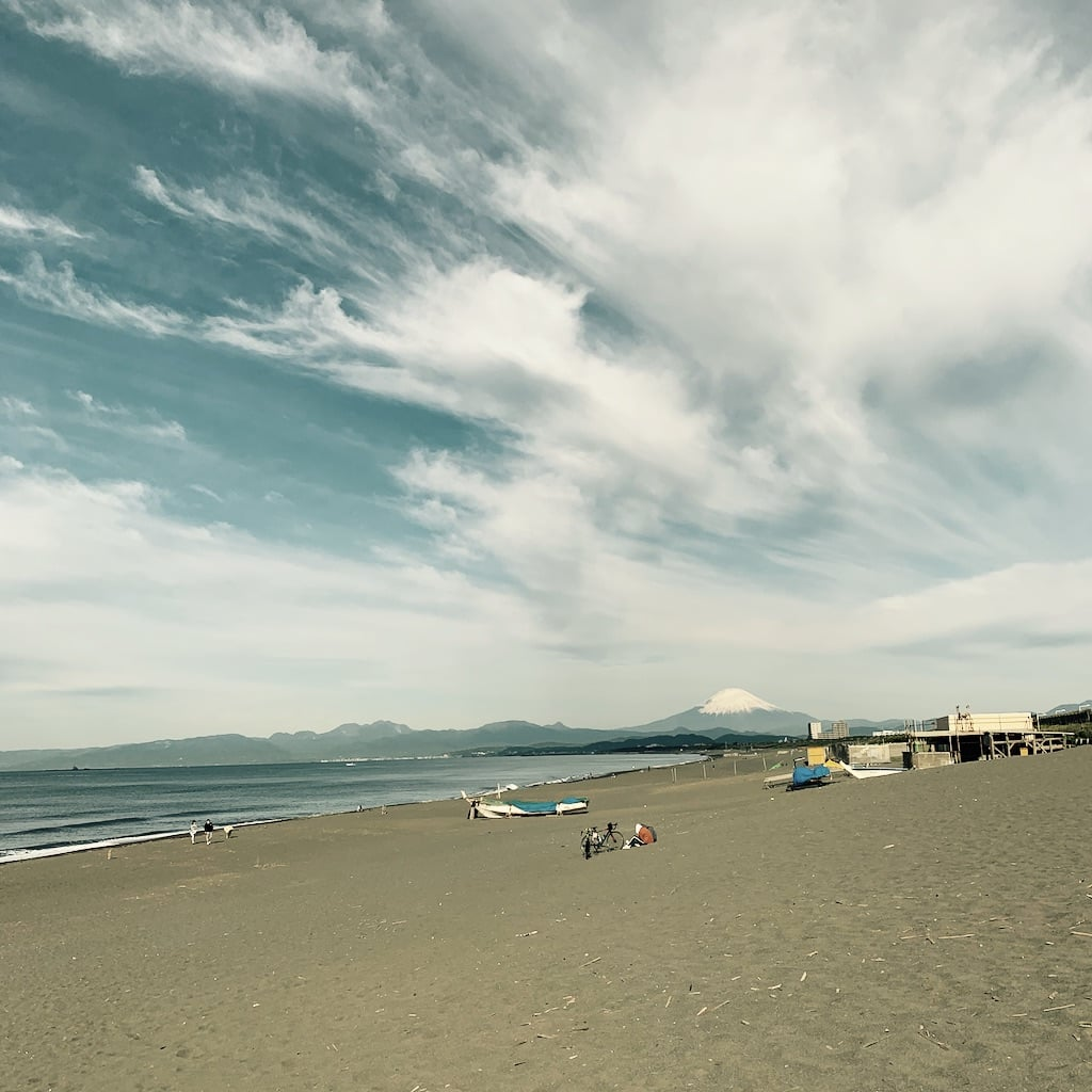 Fuji et plage