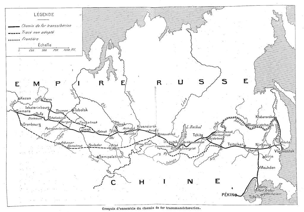 Carte de lignes de train