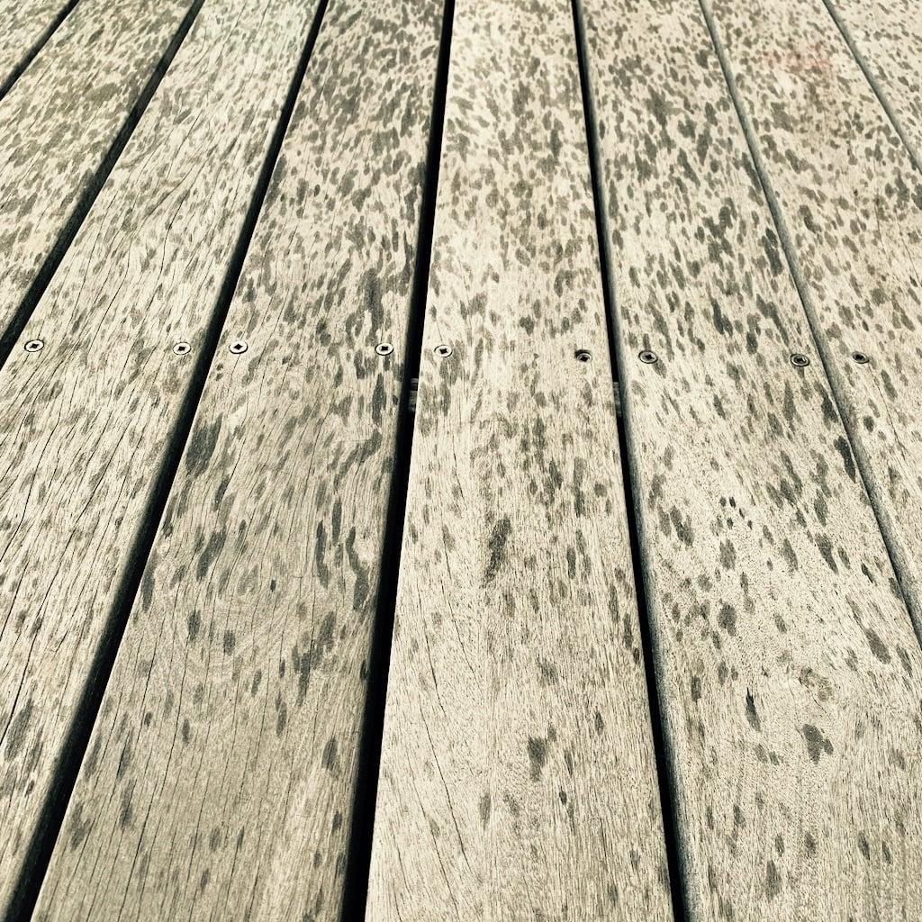 Gouttes de pluie sur du bois