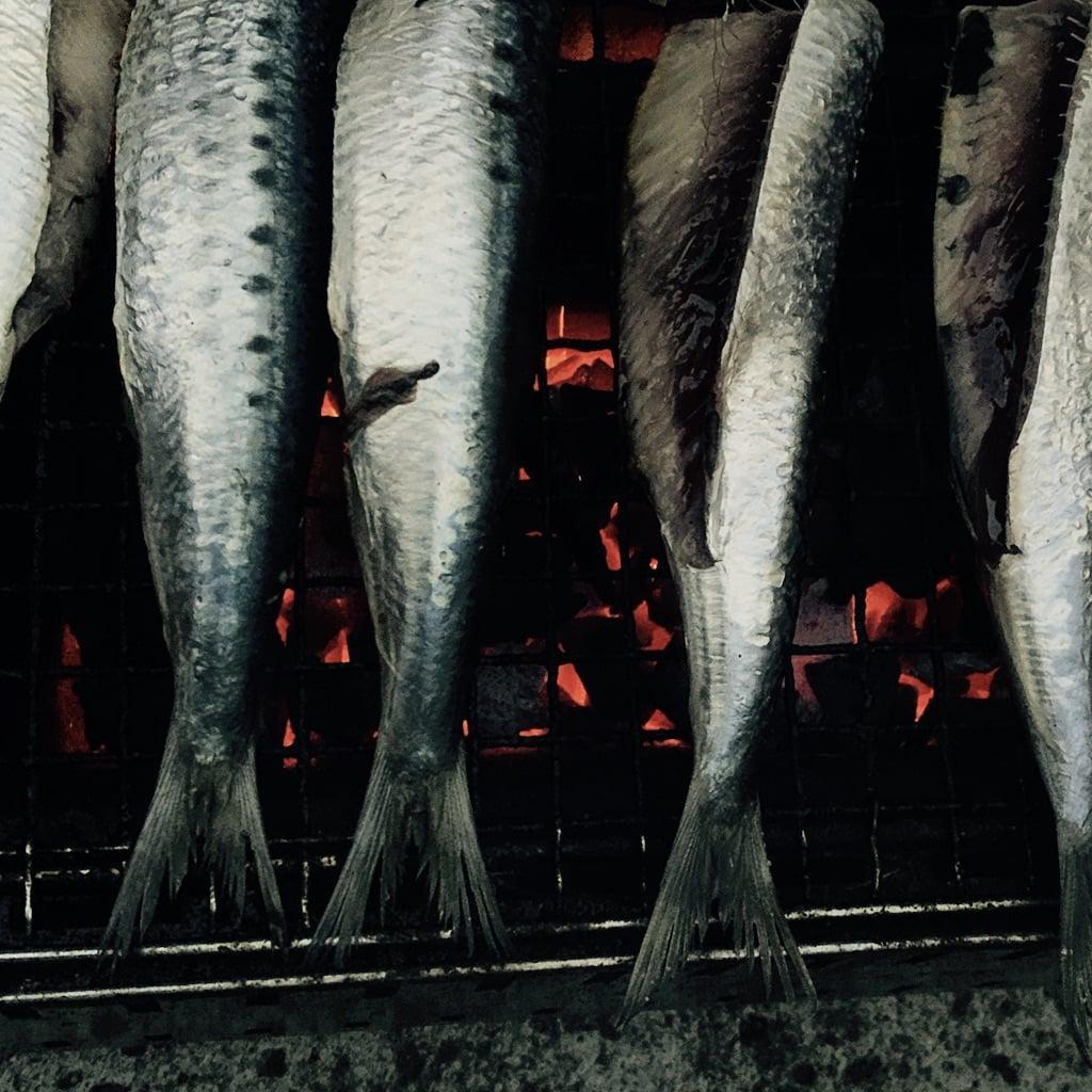 poissons sur un grill