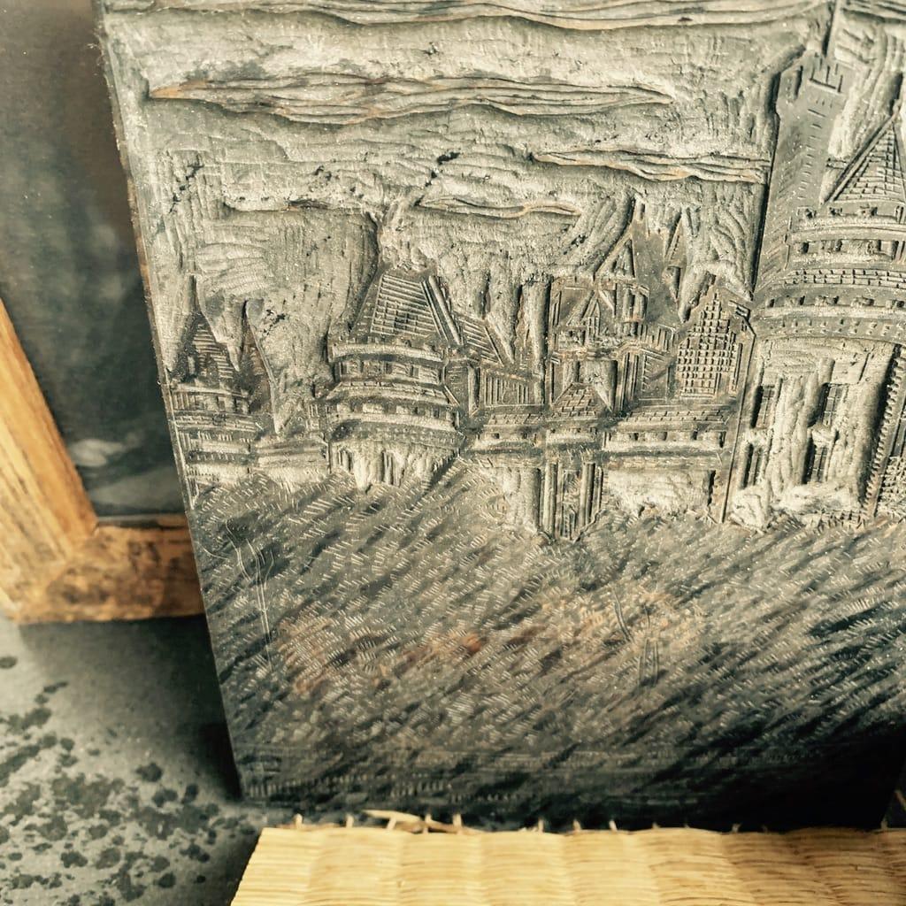 Bloc d'imprimerie en bois