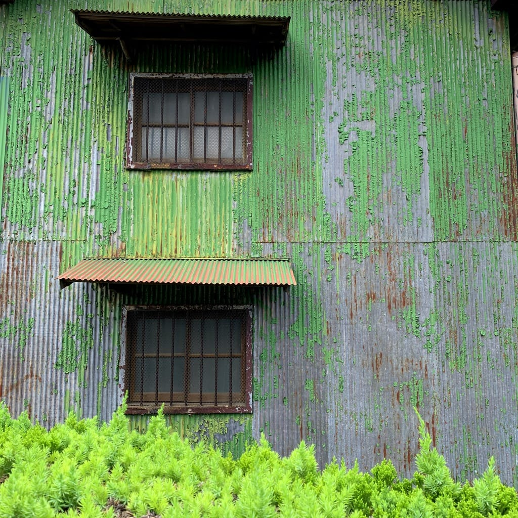 peinture rouillée verte