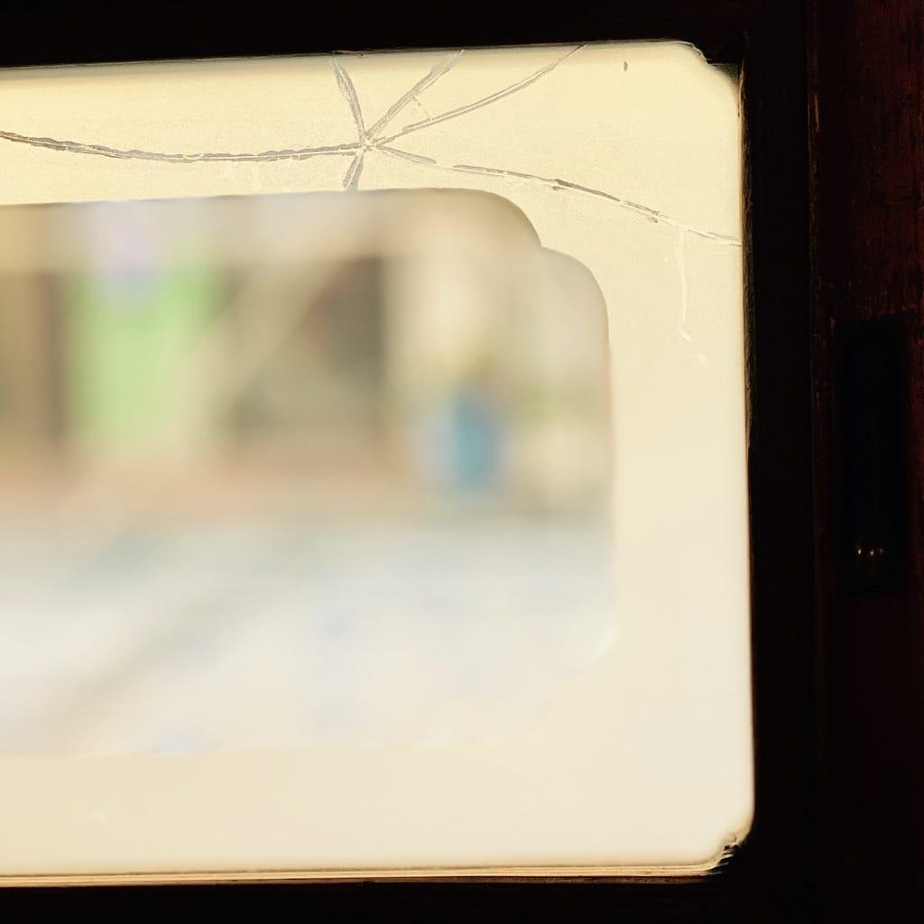 trait de fracture sur une vitre