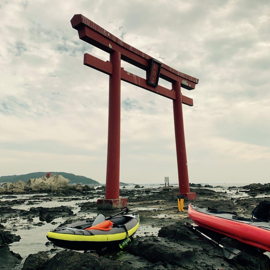 Kayak sous un tori