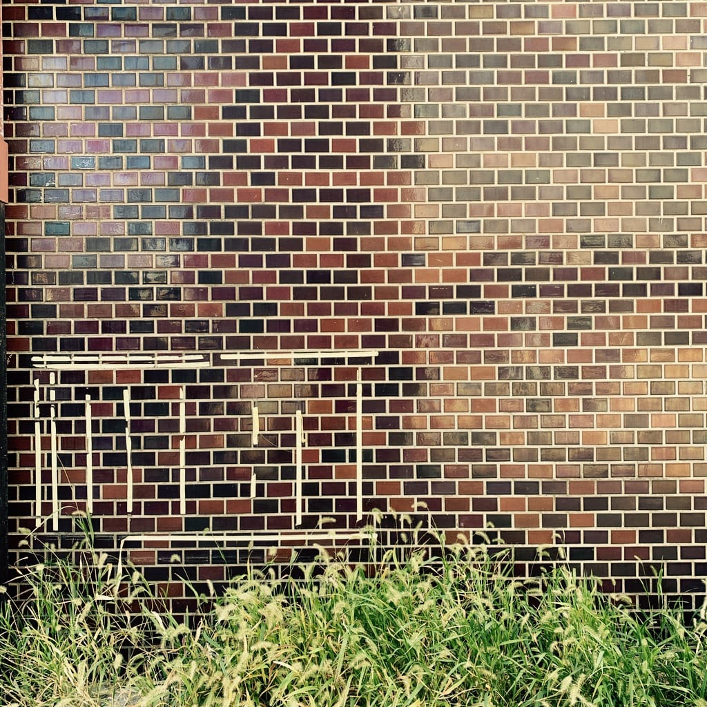mur et herbe