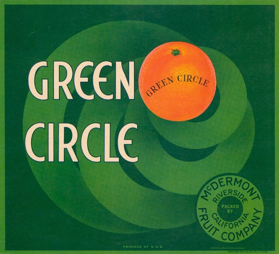 orange sur fond vert
