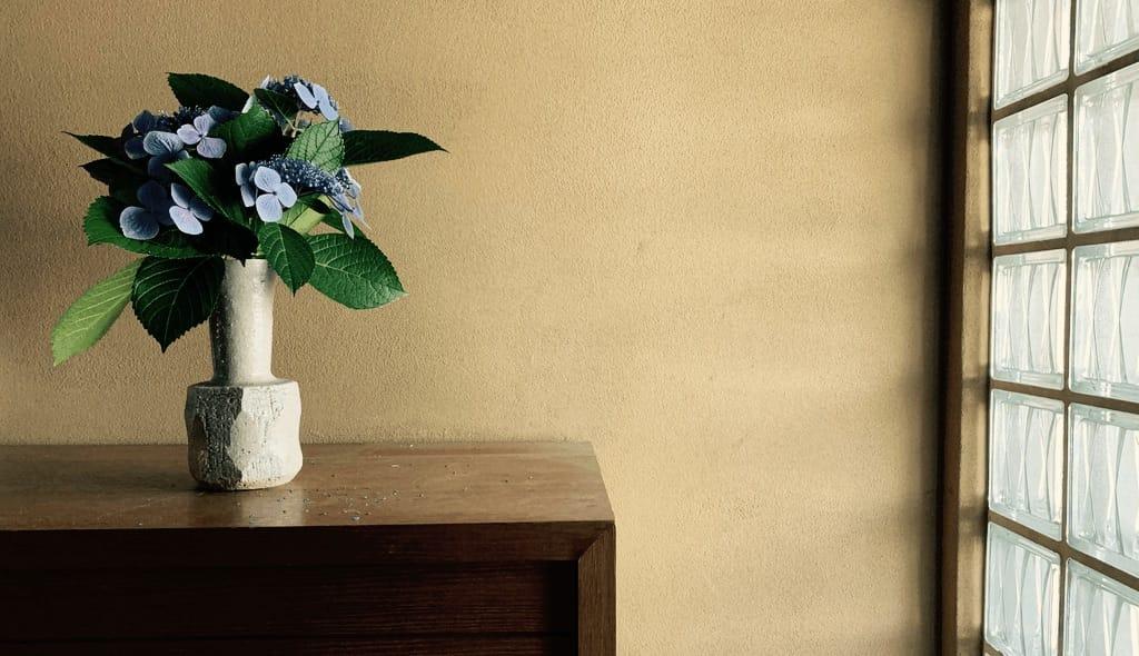 Hortensia dans un vase.