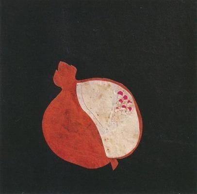 peinture et collage de fruit.